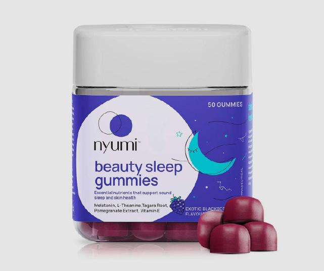 Nyumi Beauty Sleep Gummies for Restful sleep & relaxed mind with Melatonin, Chamomile & L-theanine